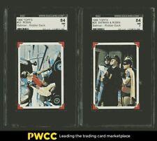 1966 Topps Batman German Riddler Back Nr COMPLETE SET w/ Robin & Batman, SGC 7