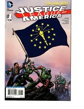 JUSTICE LEAGUE OF AMERICA #1 INDIANA FLAG COVER VARIANT, DC
