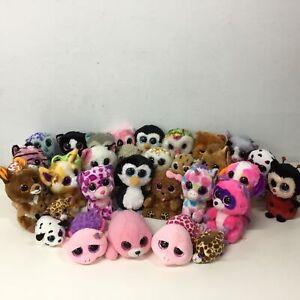 Mixed Lot of TY Beanie Boos Plush Stuffed Toy Animals Glittery Eyes #452