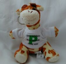 Keyring Giraffe with t-shirt ideal for someone who just passed their test