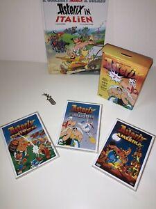 ASTERIX & OBELIX - 3 DVDS in Blechbox & BUCH + Metall Lesezeichen