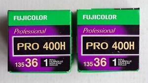 Fujifilm Fujicolor Pro 400H colour negative film, 35 mm, 36 exposure, two rolls