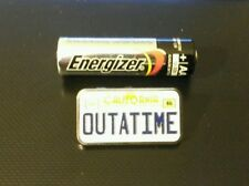 Back To The Future Collectible Pin Marty Mcfly Delorean Outatime License Plate