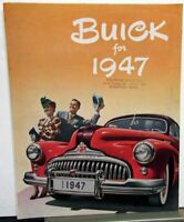 1947 Buick Special 40 Super 50 Roadmaster 70 Sales Folder Brochure Original