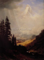 THE MATTERHORN ARTIST PAINTING REPRODUCTION HANDMADE OIL CANVA REPRO ART DECO