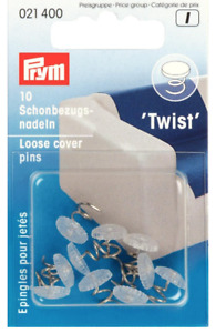 Prym Loose Cover 'Twist' Upholstery Pins x 10 Pins + FREE P&P