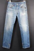 VTG LEVI'S 501 Button Fly Distressed Hige Denim Jeans Size 32x36 (30x33)