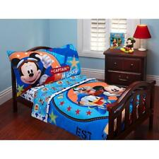 Disney Mickey Mouse 4 Piece Comforter Sheet Set Soft Plush Toddler Kids Bedding
