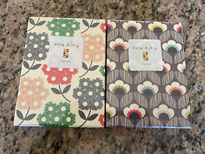 NEW Sealed Orla Kiely Notecard Sets 2 boxes Floral Flower 18 cards total