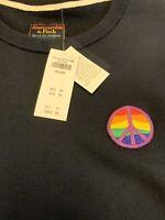 L@@K🔥NWT Men's Vintage Abercrombie & Fitch Pride Sweatshirt Fleece Sz M RARE