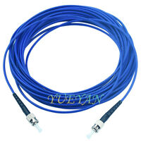 3 meters ST to ST Single-mode Simplex 3.0mm Armored  Fiber Optic Cable Pigtail