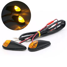 2x Mini Motorcycle LED Turn Signal Indicator Light Amber Lamp 12V 5W for Yamaha