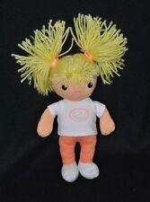 Peluche doudou poupée fille blonde AVENE XeraCalm A.D. rose gris blanc 25cm NEUF