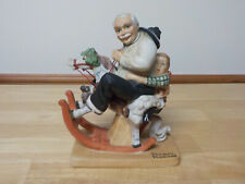 "Norman Rockwell "" Gramps at the Reins "" 1980 figurine , The Danbury Mint"