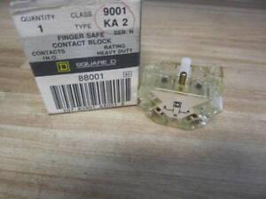 Square D 9001-KA2 Contact Block 9001KA2 Clear/Series H (Pack of 6)