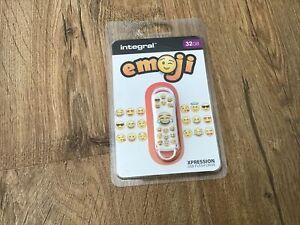 Integral Xpression USB Flash Drive/Memory Stick - Emoji - 32GB - BNWT