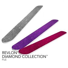 Set of 3X REVLON DIAMOND COLLECTION NAIL FILE THREE COLORS- PURPLE, PINK, SILVER