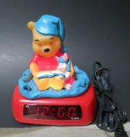 Disney Winnie The Pooh And Piglet Night Light Alarm Digital Clock Fantasma