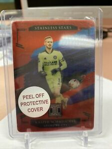 2020-21 Panini Impeccable Soccer Kasper Schmeichel Stainless Stars Metal /12