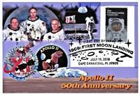 Apollo 11 50th Anniversary 4x6  Glossy Paper Collage Aldrin in Suiton Moon