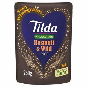 Tilda Steamed Wholegrain & Wild Basmati Rice 250G MULTIBUY GLUTEN FREE BROWN