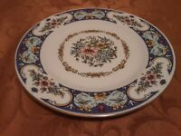 Remington Vintage Fine China Red Sea RARE Blue Spring Garden - 2 salad plates