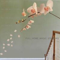 LARGE ORCHID FLOWER TREE Wall Stickers Art Decor Wallpaper Mural Decal Home DIY