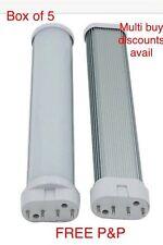 2G11 18W LED Light Bulb Tube Cool White Horizontal Plug Lamps BOX of 5
