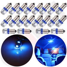 20Pcs Bulbs Ash Tray/Glove Box Blue BA9S LED Light Bulb  1895 1816 6253 64111