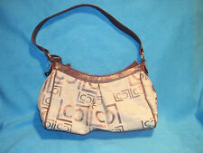 Liz Claborne Logo Style Canvas Handbag Satchel Shoulder Purse Sac, Free Ship