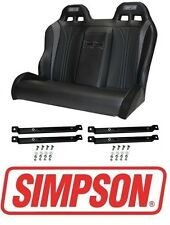 Simpson Vortex Rear Bench Seat w/ Rails Black 14-17 Polaris RZR XP 1000 & Turbo