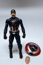 "MARVEL LEGENDS 6"" 2016 CIVIL WAR CAPTAIN AMERICA LOOSE ACTION FIGURE FROM 3 PACK"