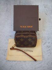 Authentic Louis Vuitton Monogram Trousse Wapiti Mini Pouch M58030