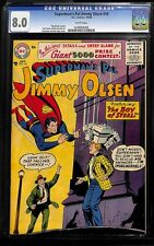 SUPERMAN'S PAL JIMMY OLSEN #16 CGC 8.0 WHITE PAGES CGC #1070926002