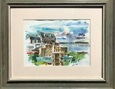 Cape Porpoise, Kennebunkport, Maine W/C Painting-1960s/70s-Adolf Konrad