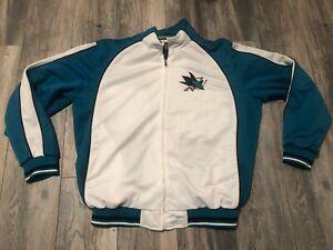 San Jose Sharks Track Jacket Men's Xl G - III New Condition