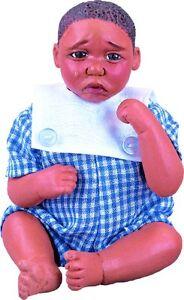 Ian Afro African American Brown Black Dark New Resin ABC Baby Boy Doll