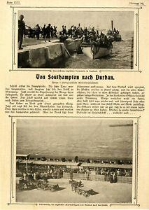 Südafrika Englische Marinebrigade Süd-Wales-Ulanen Von Southampton n.Durban 1899