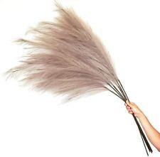 Pampas Grass | 4FT | 6 Stems | Fluffy Artificial, Faux Pampas | Boho Home Decor