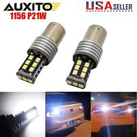 AUXITO 2x CANBUS 1156 Error Free White 7506 P21W LED Bulbs Backup Reverse Lights