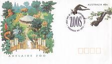 (13821) Australia Postal Stationery Fdc Adelaide Zoo Monkeys 1994