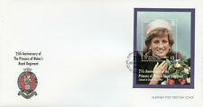 Guernsey 2017 FDC Princess Diana of Wales Regiment 1v M/S Cover Royalty Stamps