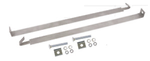 1961-64 Chevrolet Impala Gas Tank Straps Stainless Steel w/Bolts 2-pieces