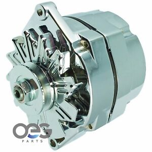 New Alternator Chrome 10SI 100 AMP ONE WIRE BBC SBC CHEVY High Output 7127-SE