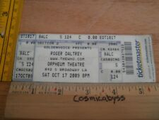 Roger Daltrey 2009 concert Full ticket Los Angeles ORIGINAL