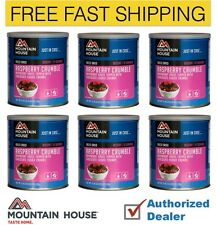Mountain House Raspberry Crumble Case of 6 Cans Freeze Dried Food Supply