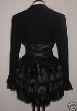 black corset jacket 10 bustle victorian lagenlook goth steampunk vampire riding