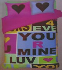You R Mine DOUBLE Bed Quilt Cover Set -Brand New!