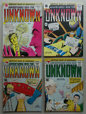 Adventures into the Unknown comic #5,8,9,10 (1960s) VG+ to FN/VFN (phil-comics)
