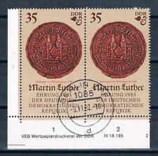 DDR MER. nr. 2756 DV, 500. compleanno di Martin Luther, timbrato!